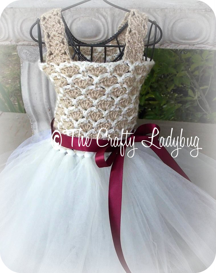 Crochet And Tulle Tutu Dress Pattern III - PDF52 on Luulla